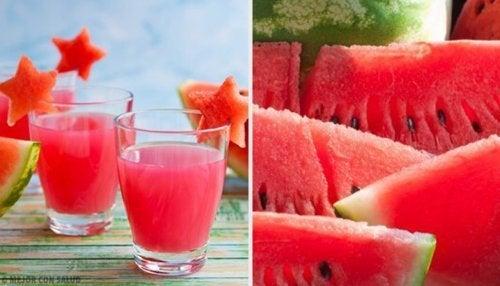 Bebidas energéticas de melancia