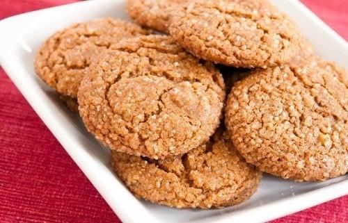 Biscoitos de coco e amêndoas