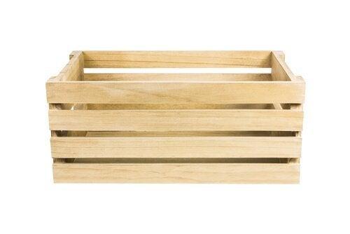 Caixas de madeira servem para dar um toque rústico
