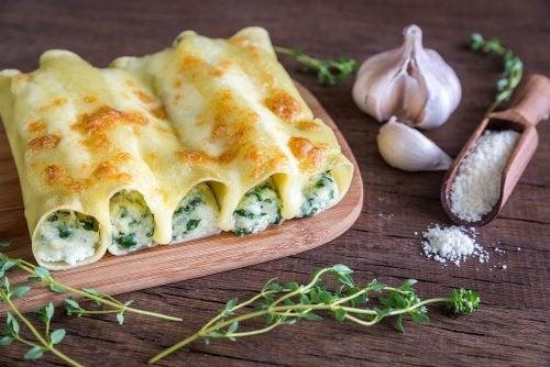 Canelone de legumes: receita caseira