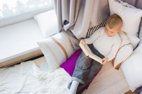 Faça um bom canto de leitura para as crianças?