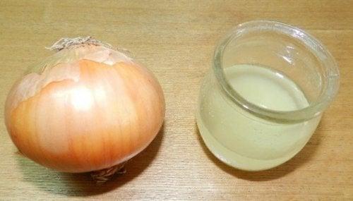 Soluções naturais para remover a gordura das janelas da cozinha: Desengordurante com cebola e vinagre