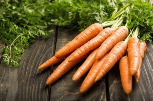 Cenouras para fazer madalenas