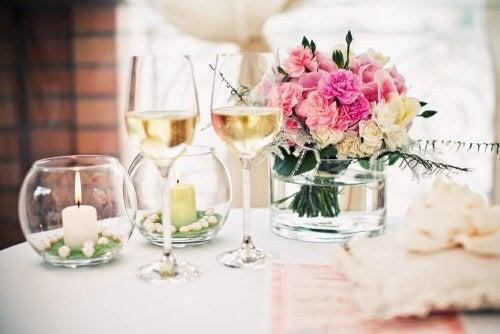 Decorações da mesa para casamentos