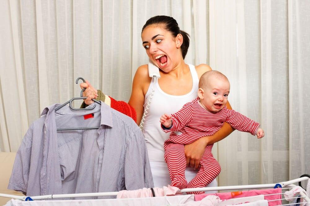 As mães também choram de cansaço