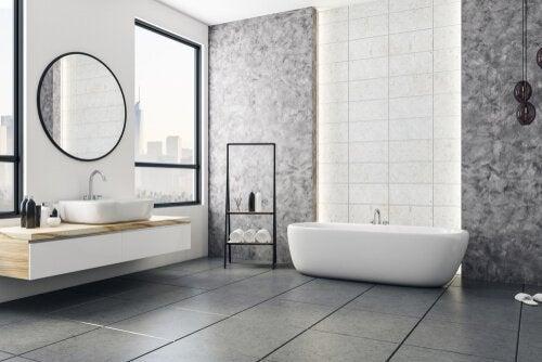Pode modernizar o banheiro usando estilo contemporâneo