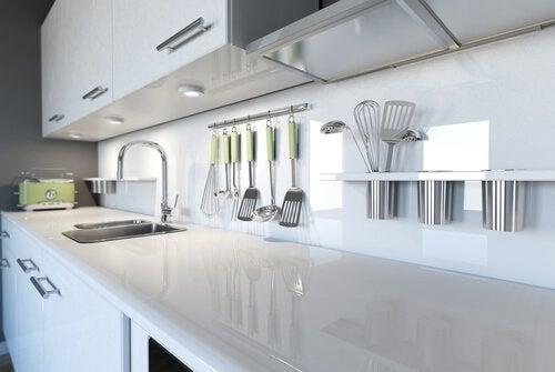 Desenho de um bom armazenamento na cozinha
