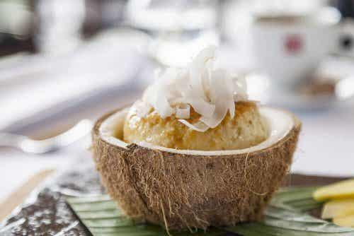 Flã de coco sem açúcar e sem leite