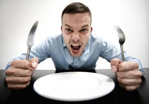 A ansiedade por comida não é adequada para uma dieta inteligente