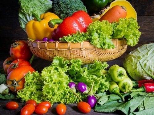 Ingredientes para canelone de legumes