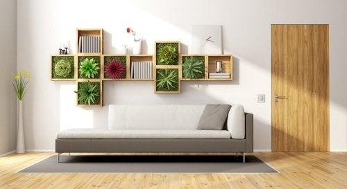 Pode fazer jardins com flores dentro de casa