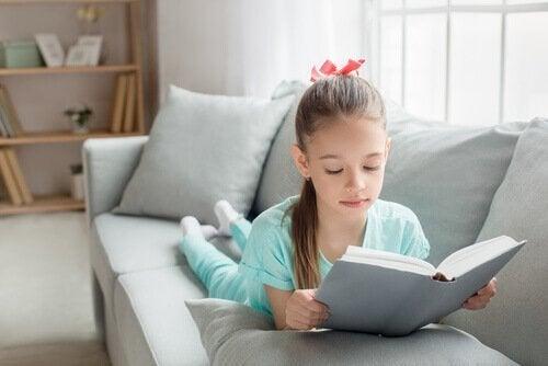 Características de um canto de leitura para crianças