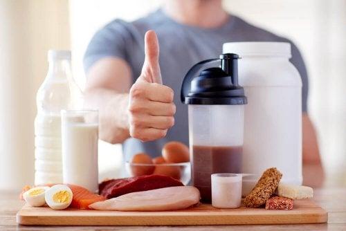 Suplementos à base de proteínas