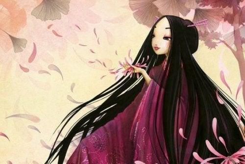 Mulher chinesa que diz eu te amo