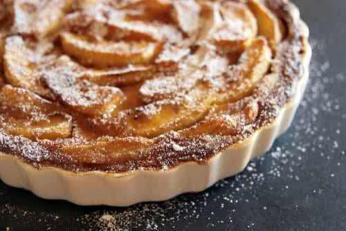 Torta de maçã com açúcar
