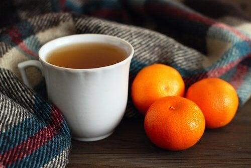 Remédio para dormir à base de tangerina