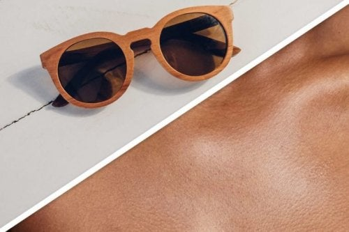 Óculos de sol com lentes de cor marrom