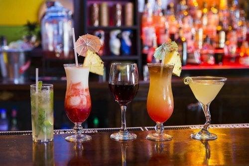 Bebidas que engordam e contêm álcool