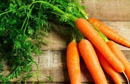 Cenoura para massa de legumes