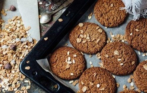 Biscoitos de aveia, limão e amêndoas sem fermento