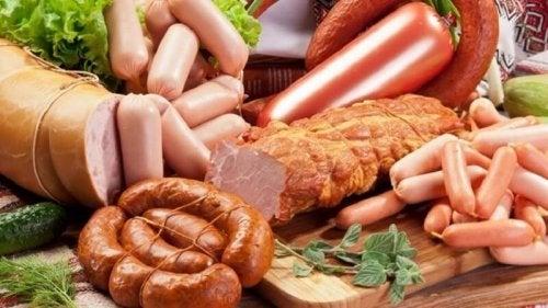 Alimentos com conservantes da dieta: alimentos processados