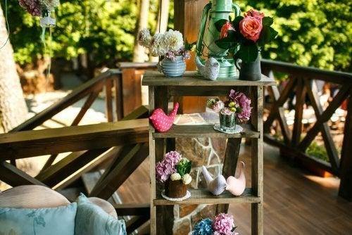 Escada de madeira reciclada
