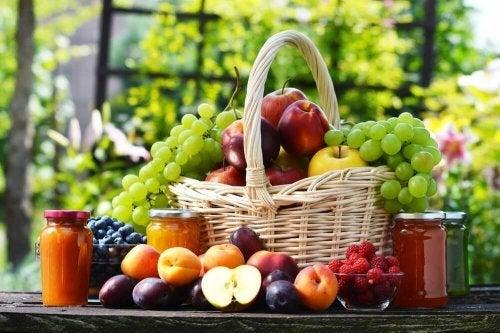 Geleias com frutas, sem açúcar