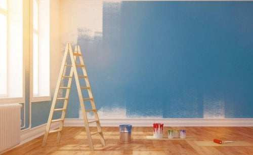 Pinte a sala de estar estilo vintage