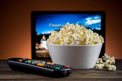 Pipoca para assistir filmes com avós
