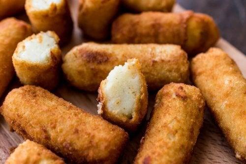 Croquetes de tofu e abobrinha pobres em calorias