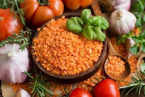 Creme de lentilhas e tomate
