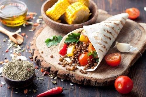 Alimentos da dieta vegetariana