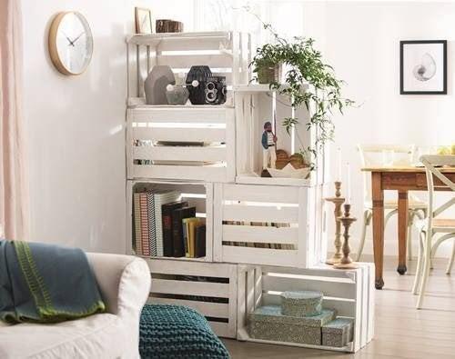 Decore a sala de estar estilo vintage com elementos reciclados
