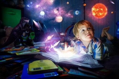 Uma criança superdotada possui muita imaginação