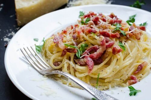 Deliciosa receita de espaguete à carbonara