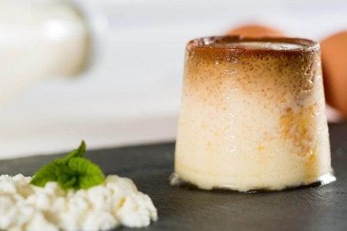 Como preparar flan de queijo fresco sem lactose