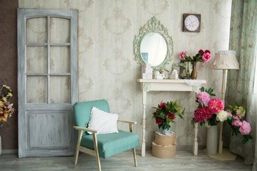Sala decorada com estilo vintage