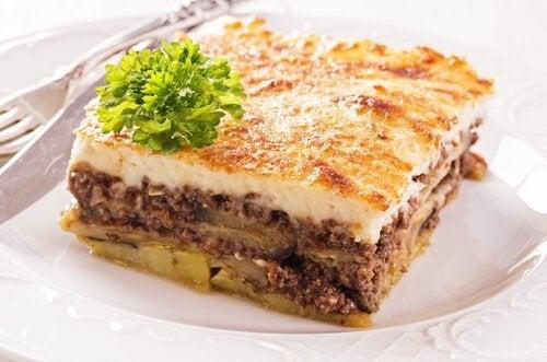 Mussacá grega de carne