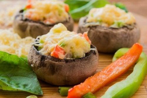 Cogumelos portobello recheados: deliciosa receita!
