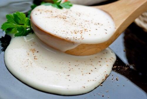 Molho para canelone sem lactose e sem glúten