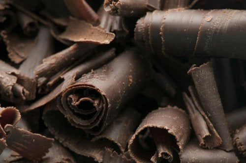Ingredientes para o recheio da torta de chocolate