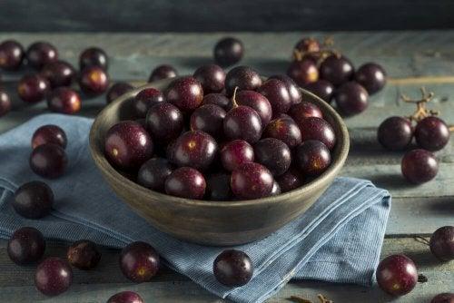 A uva é um alimento que compõe a dieta das cores
