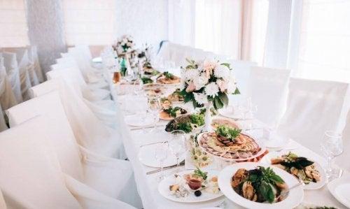 Menu personalizado debufê para casamentos