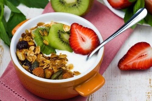 Alimentos em uma dieta equilibrada