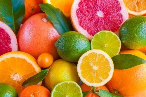 Frutas cítricas para reduzir a temperatura