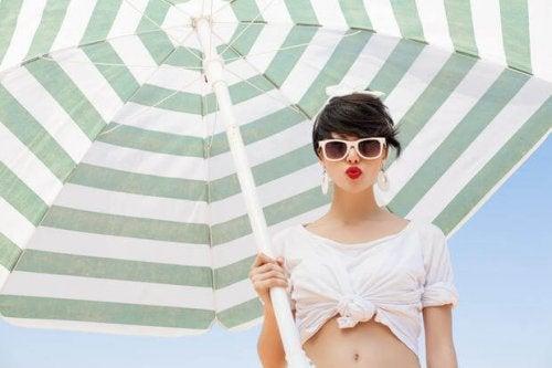 Óculos de sol para se proteger do sol no verão