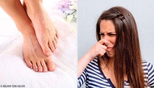 Talco caseiro para eliminar o mau cheiro dos pés
