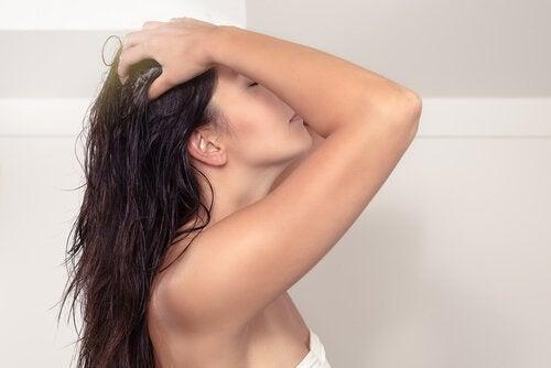 Xampu e condicionador livre produtos químicos para ter cabelo liso e brilhante