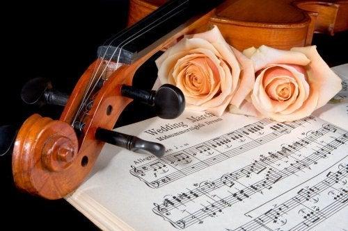 Partitura de músicas para casamento