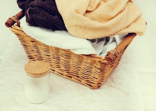 Toalhas lavadas com amaciante caseiro